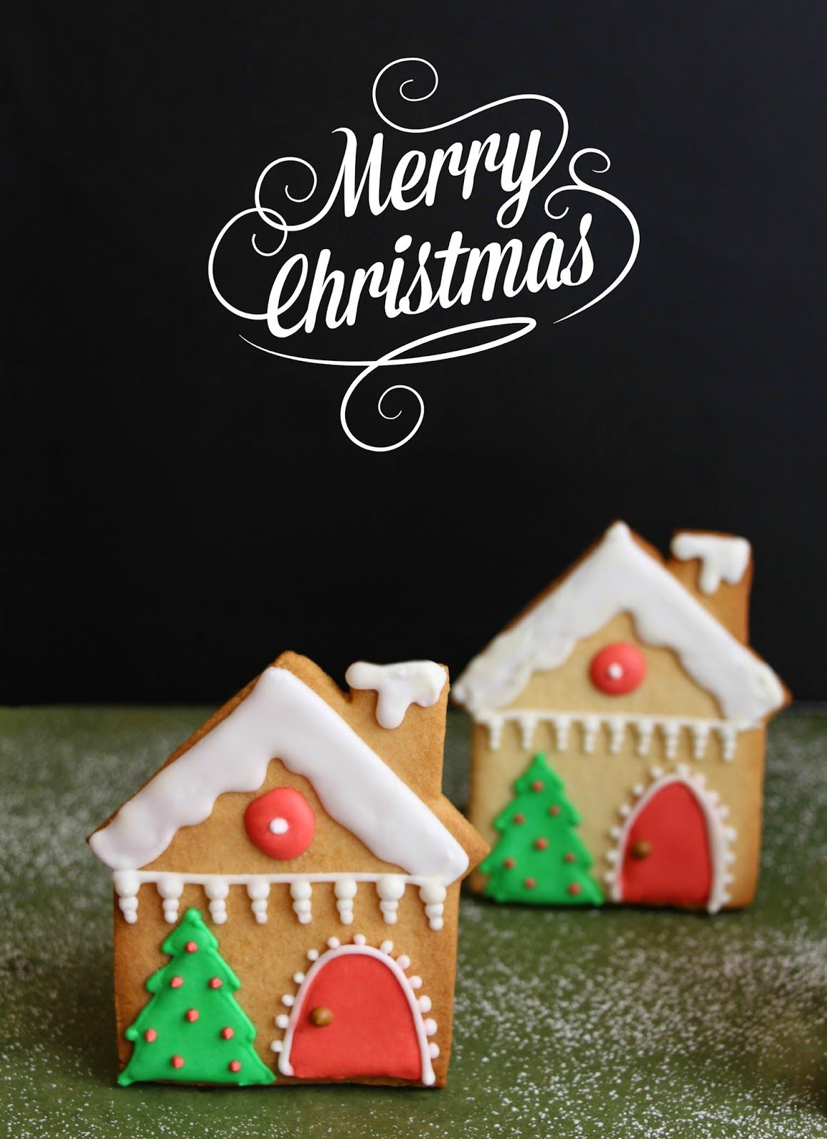 Pin By Maritza Murillo On Casitas De Jengibre Cute Christmas Cookies Christmas Cookies Decorated Gingerbread House Cookies