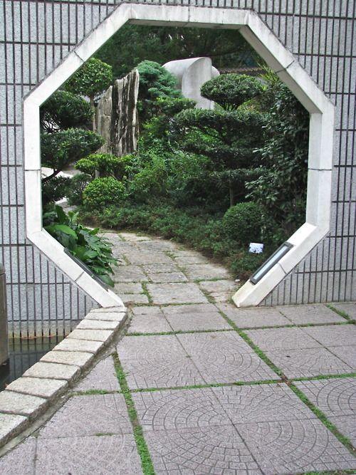 Path through hexagonal doorway