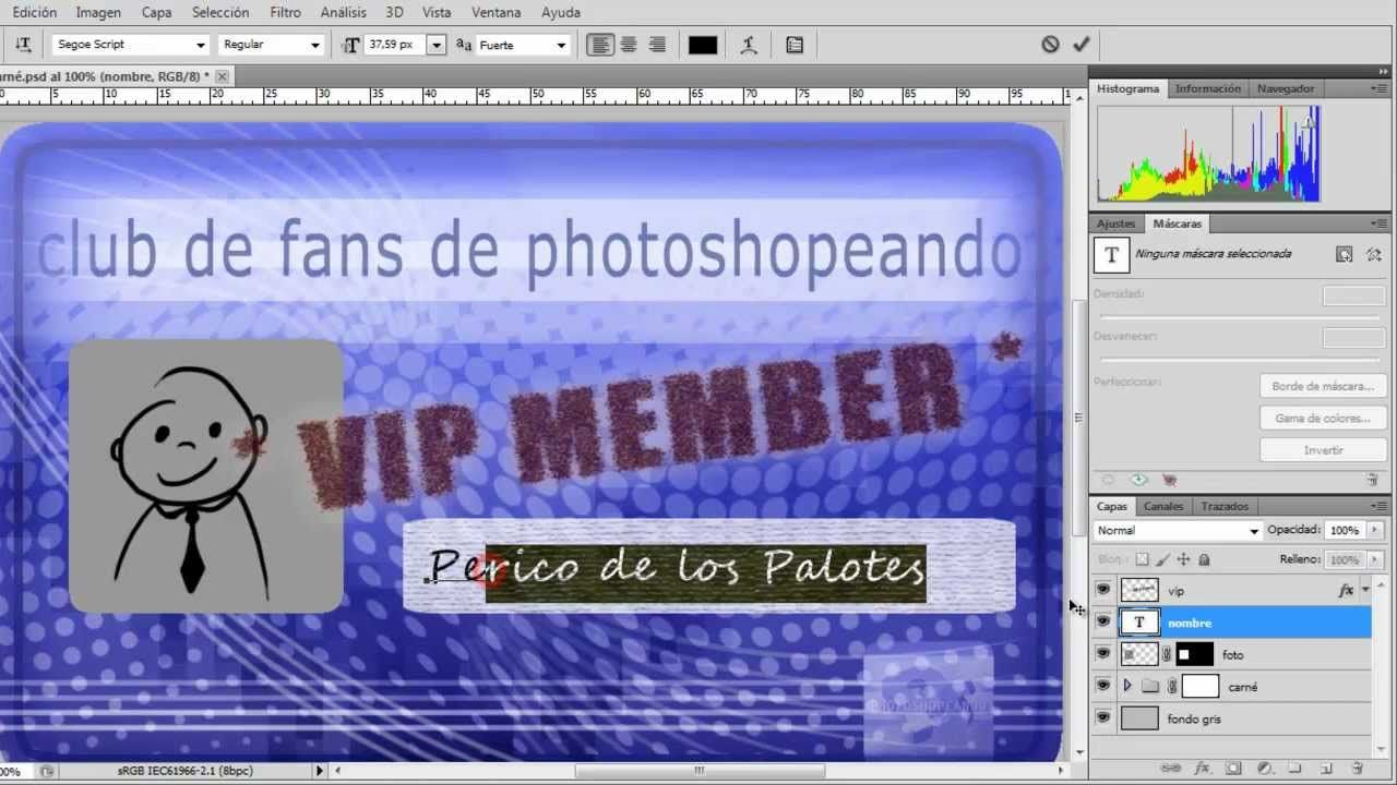 Cómo usar variables en Photoshop para generar fichas, carnés, etc.