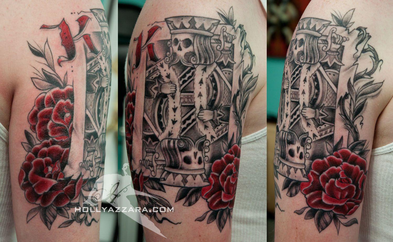 Face card tattoo tattoos pinterest king card tattoo