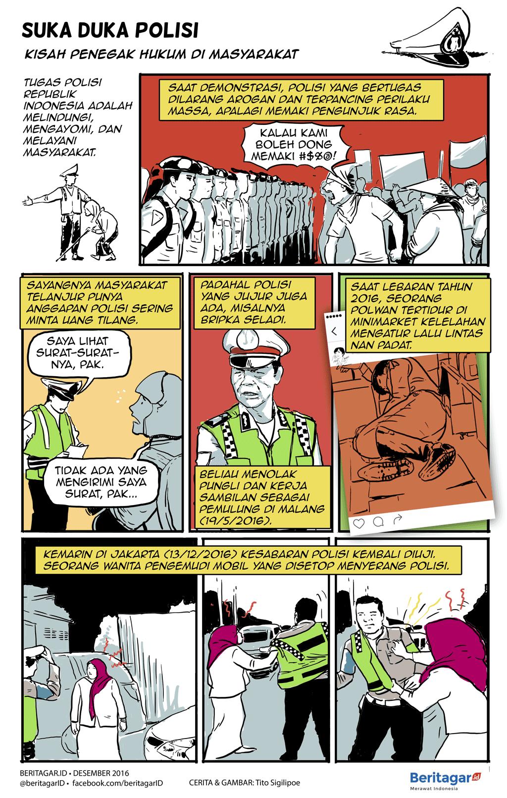Menyerang Pak Polantas Yang Bertugas