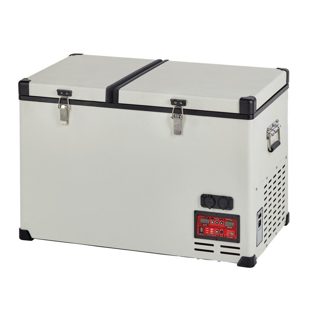 Unique 4 2 Cu Ft 120 L Solar 12 Volt 24 Volt Dc Or 110 Volt Ac Portable Refrigerator Freezer In White Ugp 120l1 W The Home Depot Portable Refrigerator Refrigerator Freezer Color Refrigerator