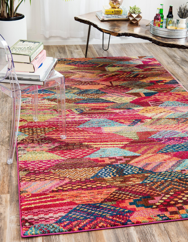 Multi 5 X 8 Santa Fe Rug Area Rugs Esalerugs Rugs Home Decorators Rugs Colorful Rugs [ 3000 x 2333 Pixel ]