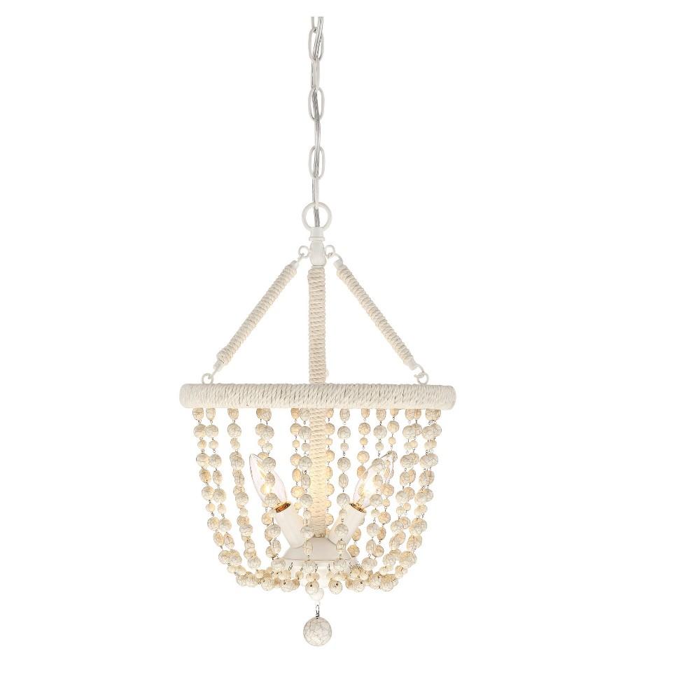 Botticino cream ivory pendant ceiling lights set of filament