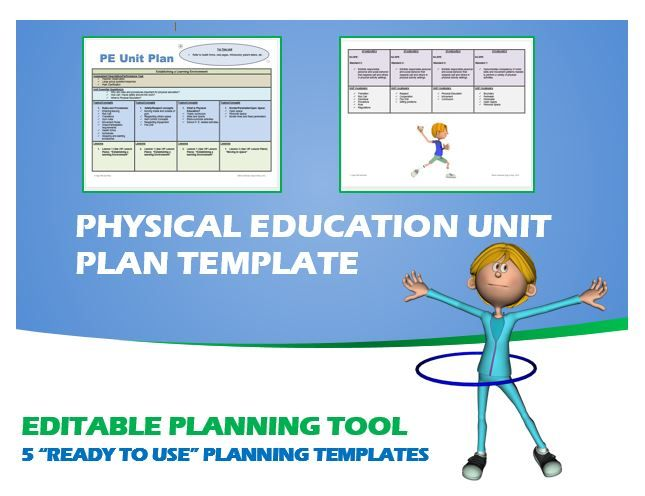Physical Education Unit Plan- 5  - physical education lesson plan template