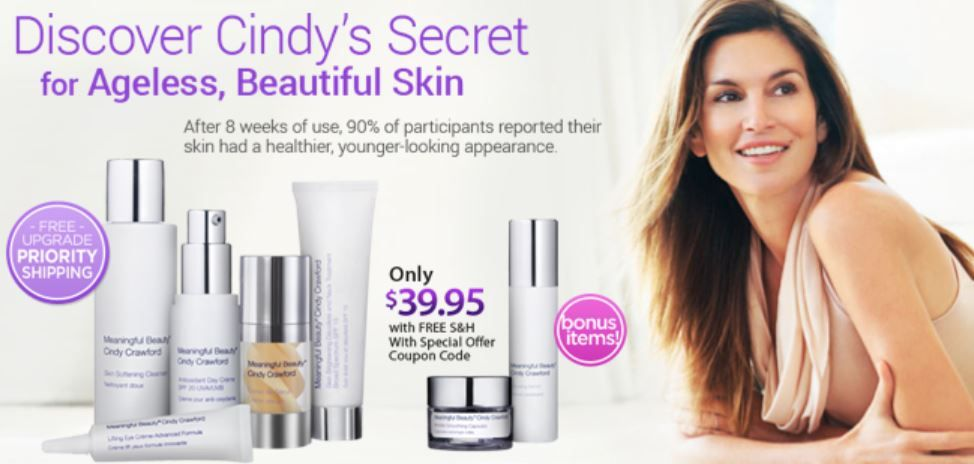Meaningful Beauty Cindy Crawford Natural Glow Skin Care Meaningful Beauty Skin Care Natural Anti Aging Skin Care