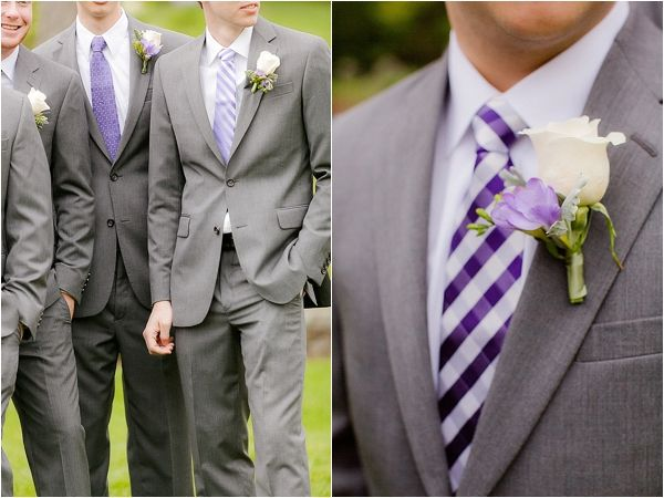 A sweet New England summer wedding with loads of pretty purple details from Deborah Zoe Photography!!