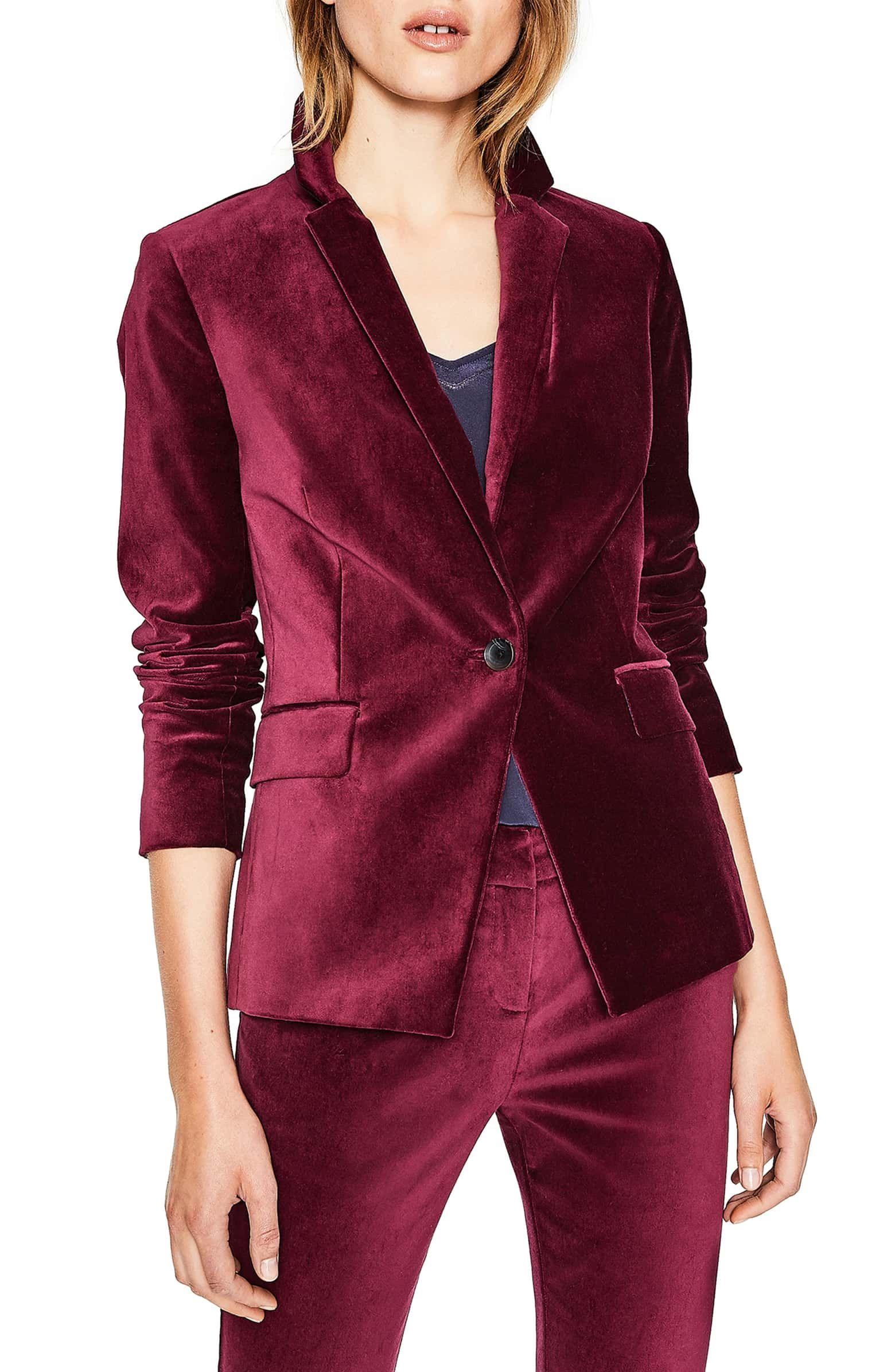 9 Best burgundy velvet blazer inspiration ideas | burgundy velvet blazer, velvet  blazer, burgundy blazer