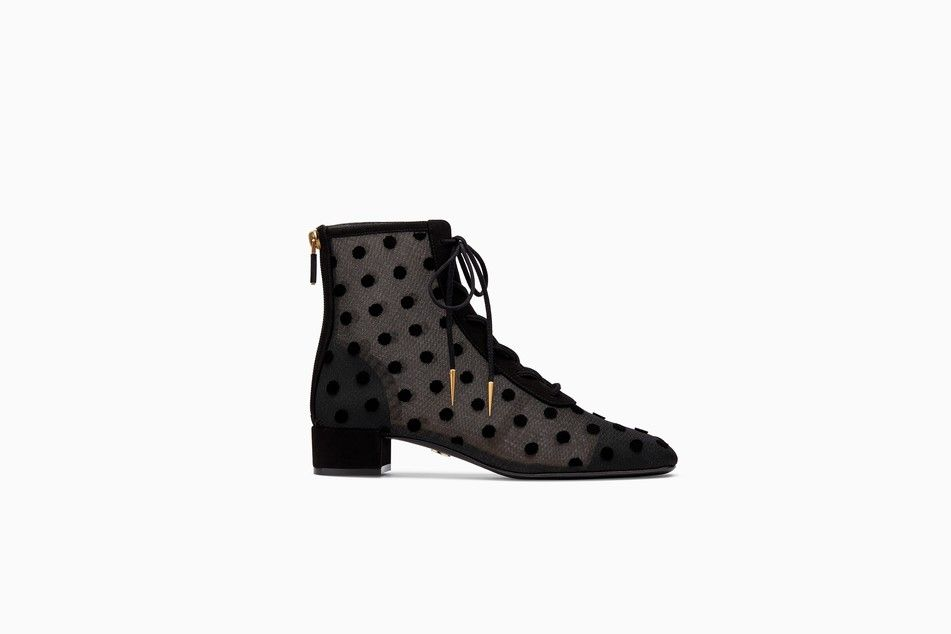 40767b8e30 Baby-D tulle ankle boot with velvet polka dots - Ankle boot Dior ...