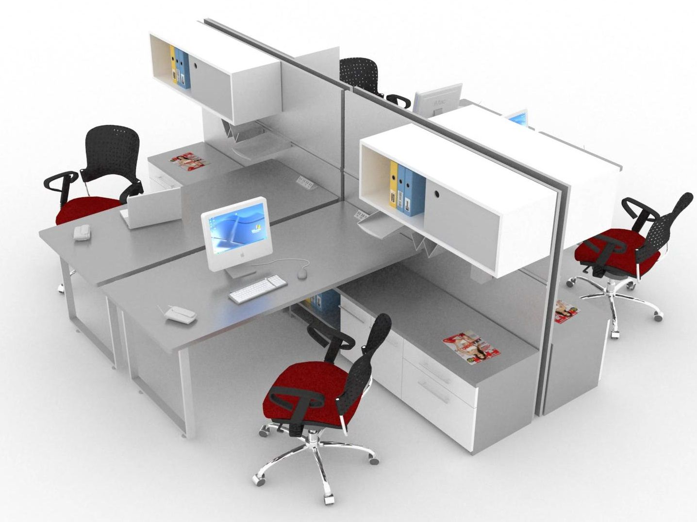 Sistemas modulares para oficina l nea flex muebles for Muebles modulares modernos