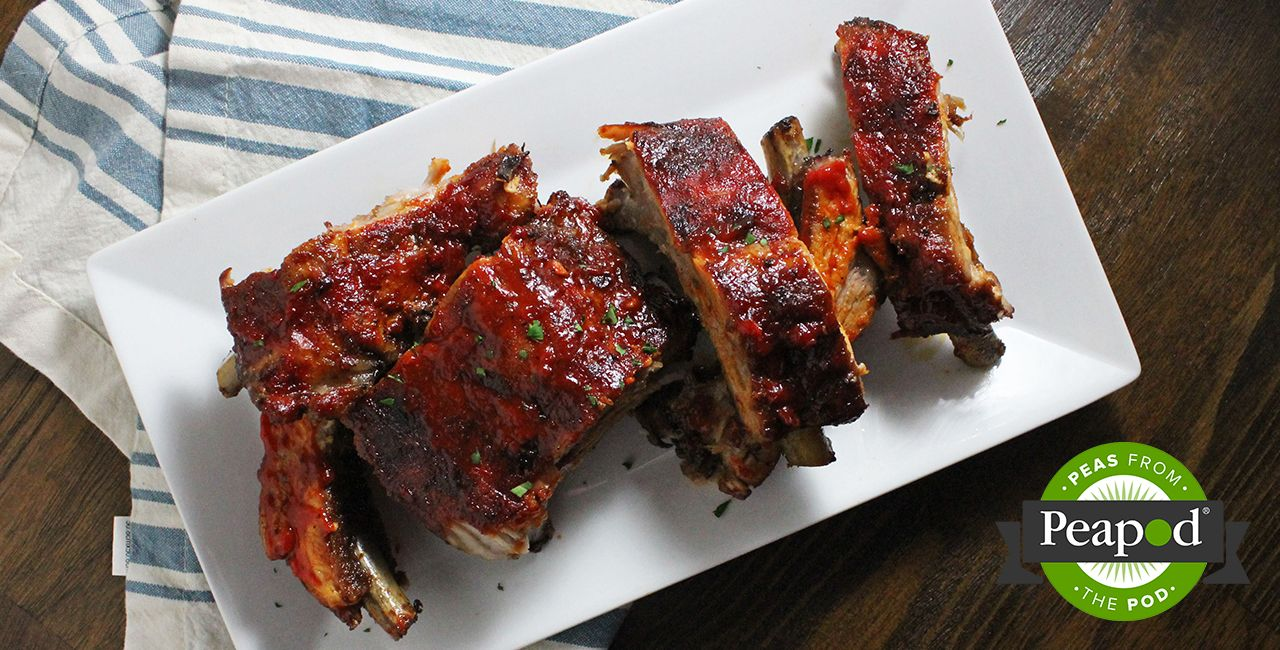 Photo of Ribs with Roasted Red Pepper Barbecue Sauce Recipe from Peapod