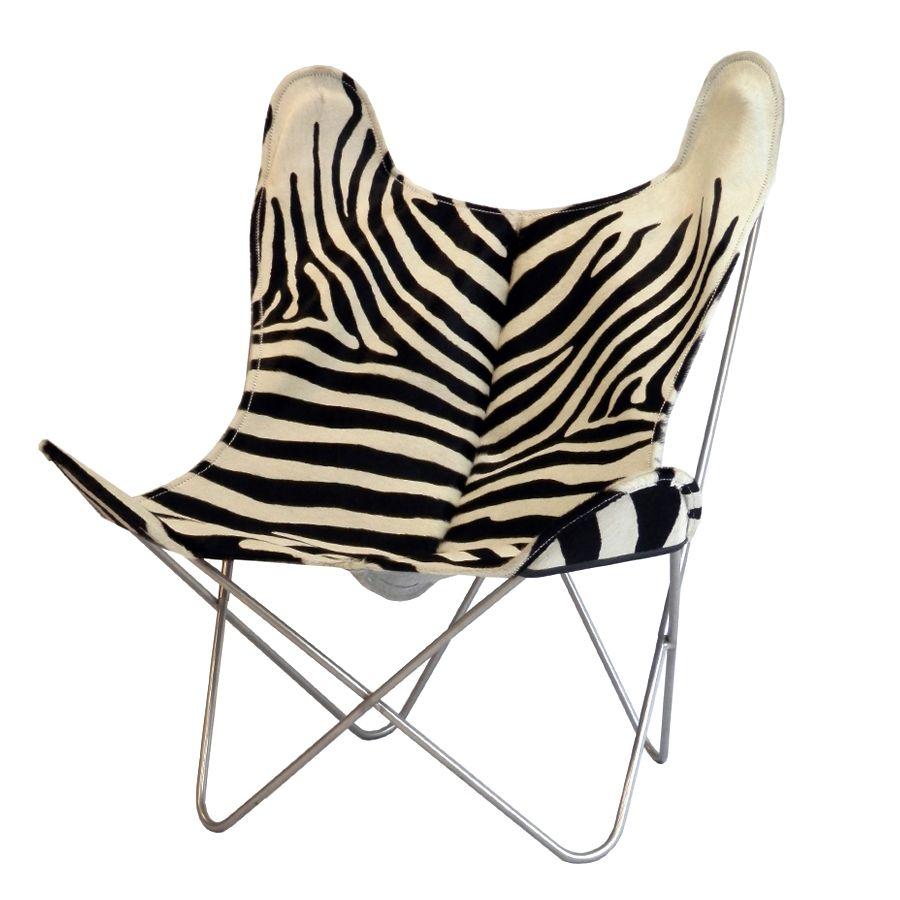 Fauteuil Zebre Pas Cher se rapportant à fauteuil airborne aa en peau de vache imitation zèbre ! | chaises et