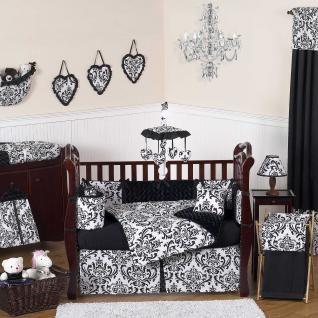 Isabella Black & White Baby Crib Bedding