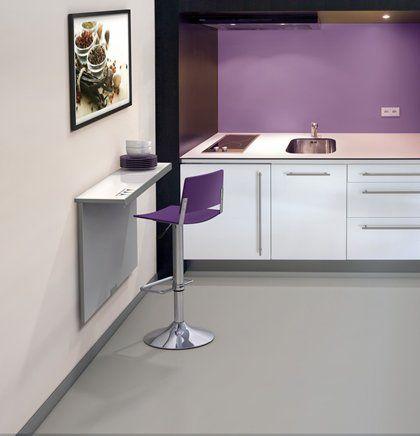 Cocinas mesa de cocina para pared mesas y sillas para la cocina pinterest mesas de cocina - Mesa plegable pared cocina ...