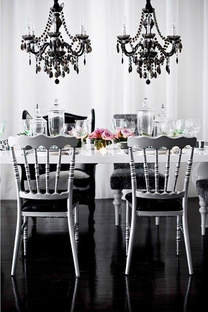 Beau Dining Room · Black ChandelierDining ...