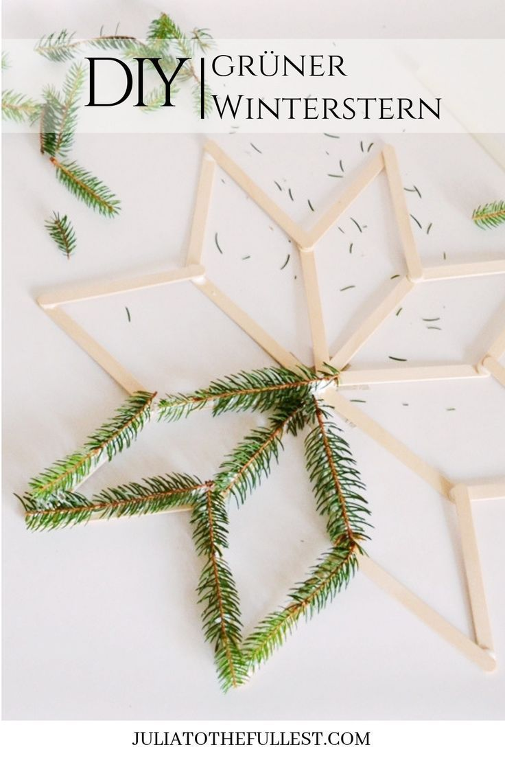 Photo of DIY – grüner Winterstern mit Vorlage | Julia to the Fullest
