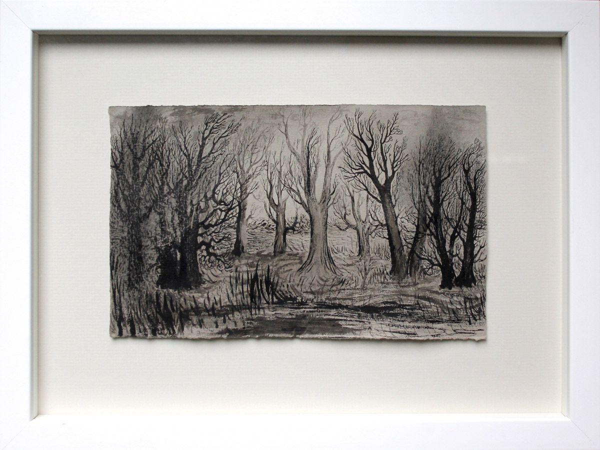 Suomen Taideyhdistys » 2014 Elina Merenmies: Landscape, 2012 muste käsintehdylle paperille