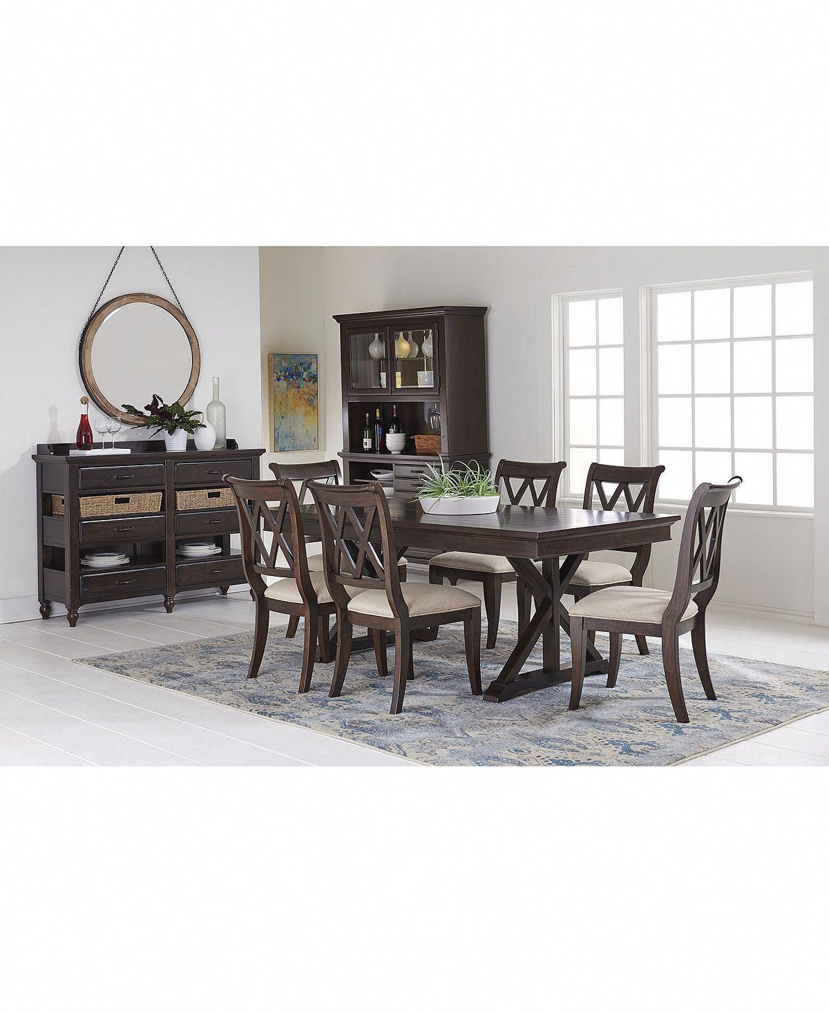 Discount Online Furniture Baker Street Dining Trestle Table Furniture Macy S
