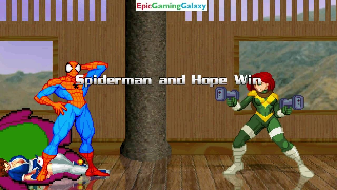 Hope And Spider Man Vs Kasumi And Barney The Dinosaur In A Mugen