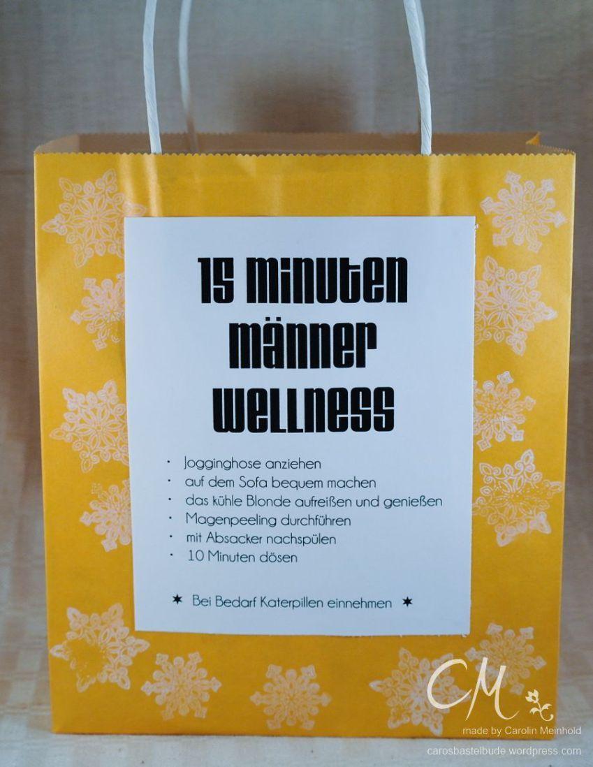 15 Minuten Männer Wellness In Der Tüte