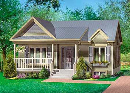 Lovely Two Bedroom Home Plan Country Style House Plans House Plans Cottage Plan