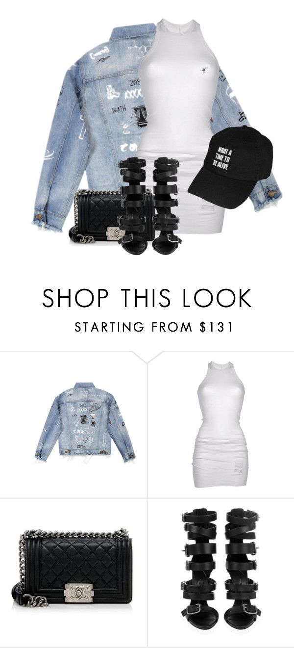 Untitled #3378 by xirix on Polyvore featuring moda, DRKSHDW, Giuseppe Zanotti and Chanel