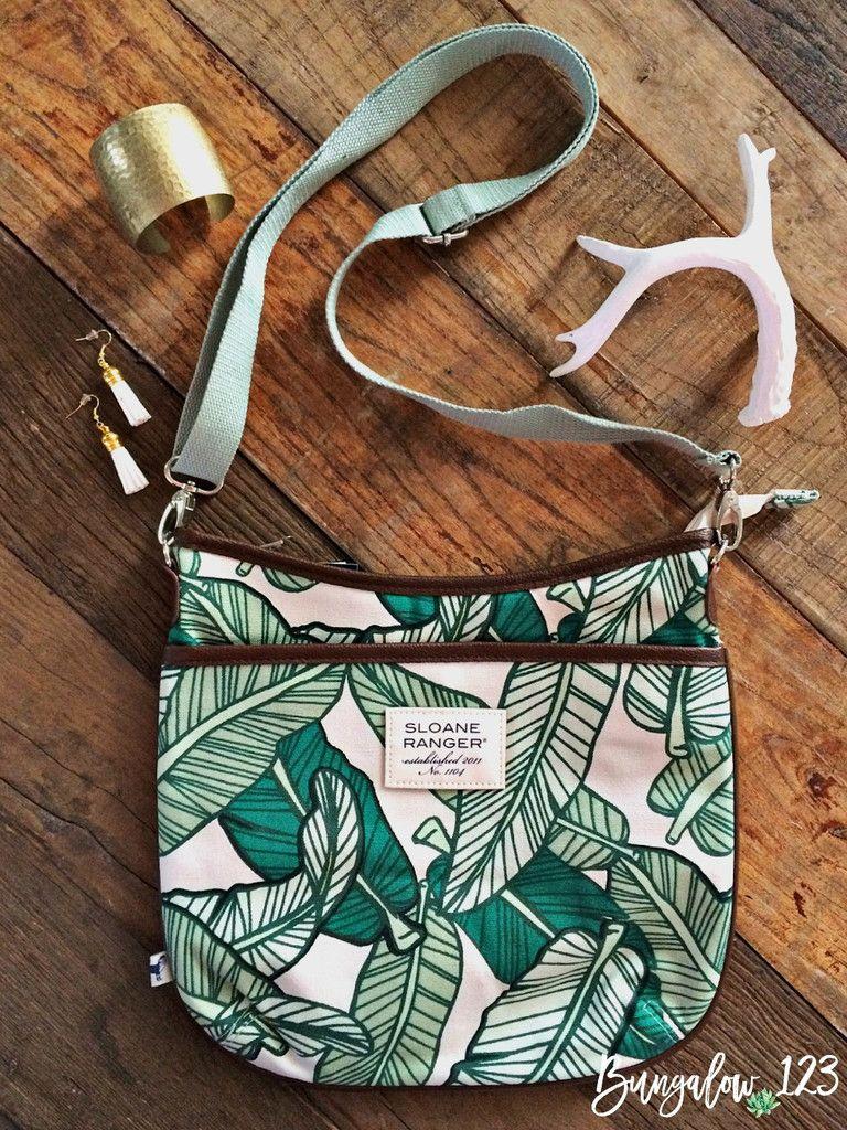 Sloane Ranger Banana Leaf Large Crossbody Bag