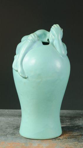 Van Briggle Despondency Vase Baluster Form Ming 650 Van Briggle