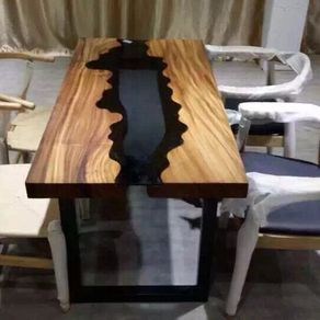 Acacia Live Edge Wood And Glass Dining Table By ChiTown Furniture