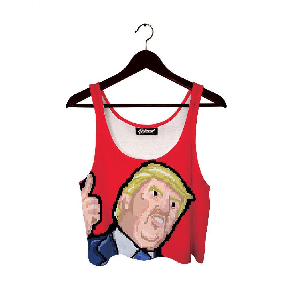 Trump 8Bit Crop Top