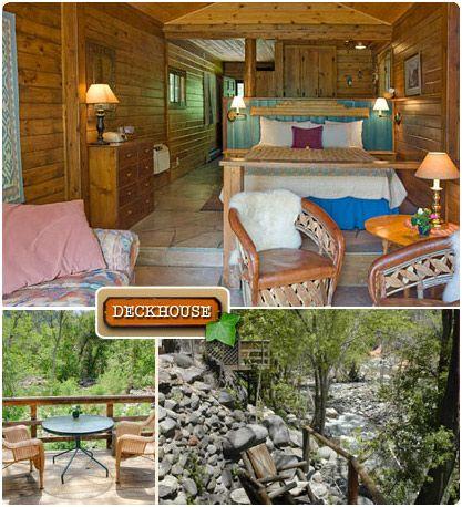 Sedona Cabins The Deckhouse A Romantic Treasure On Oak Creek Cabin Arizona Vacation Sedona Vacation