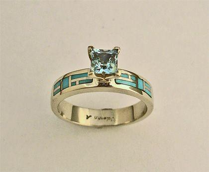 Gold And Turquoise Wedding Rings Engagement Southwest