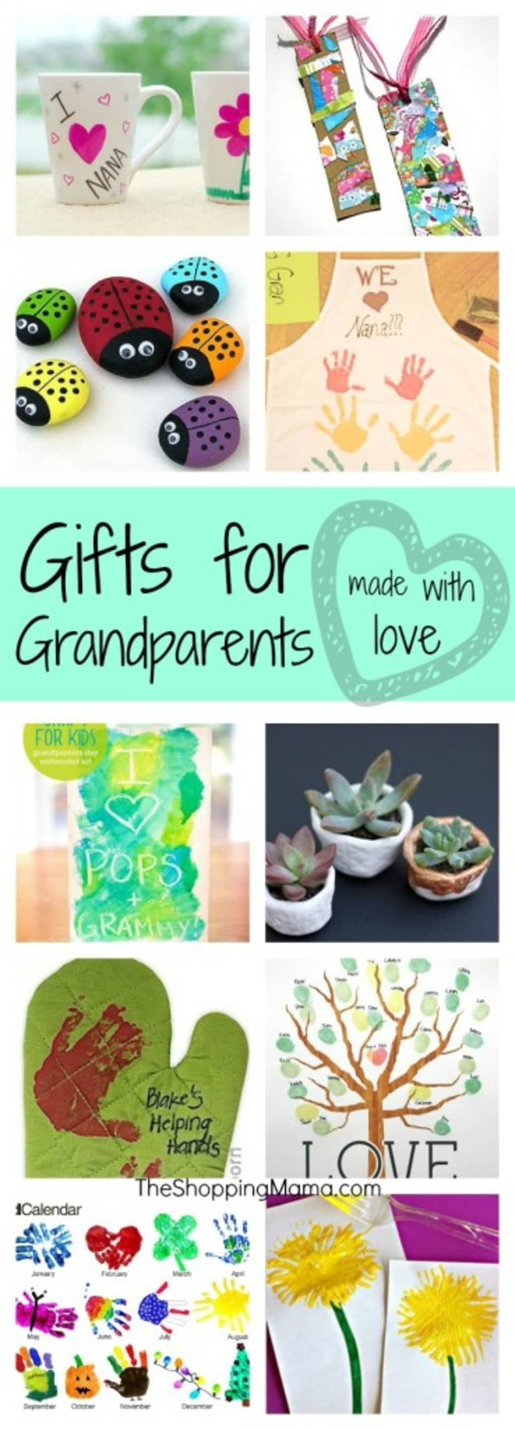 Handmade Gifts for Grandparents #grandparentsdaygifts Handmade Gifts for Grandparents | MomTrends #grandparentsdaycrafts
