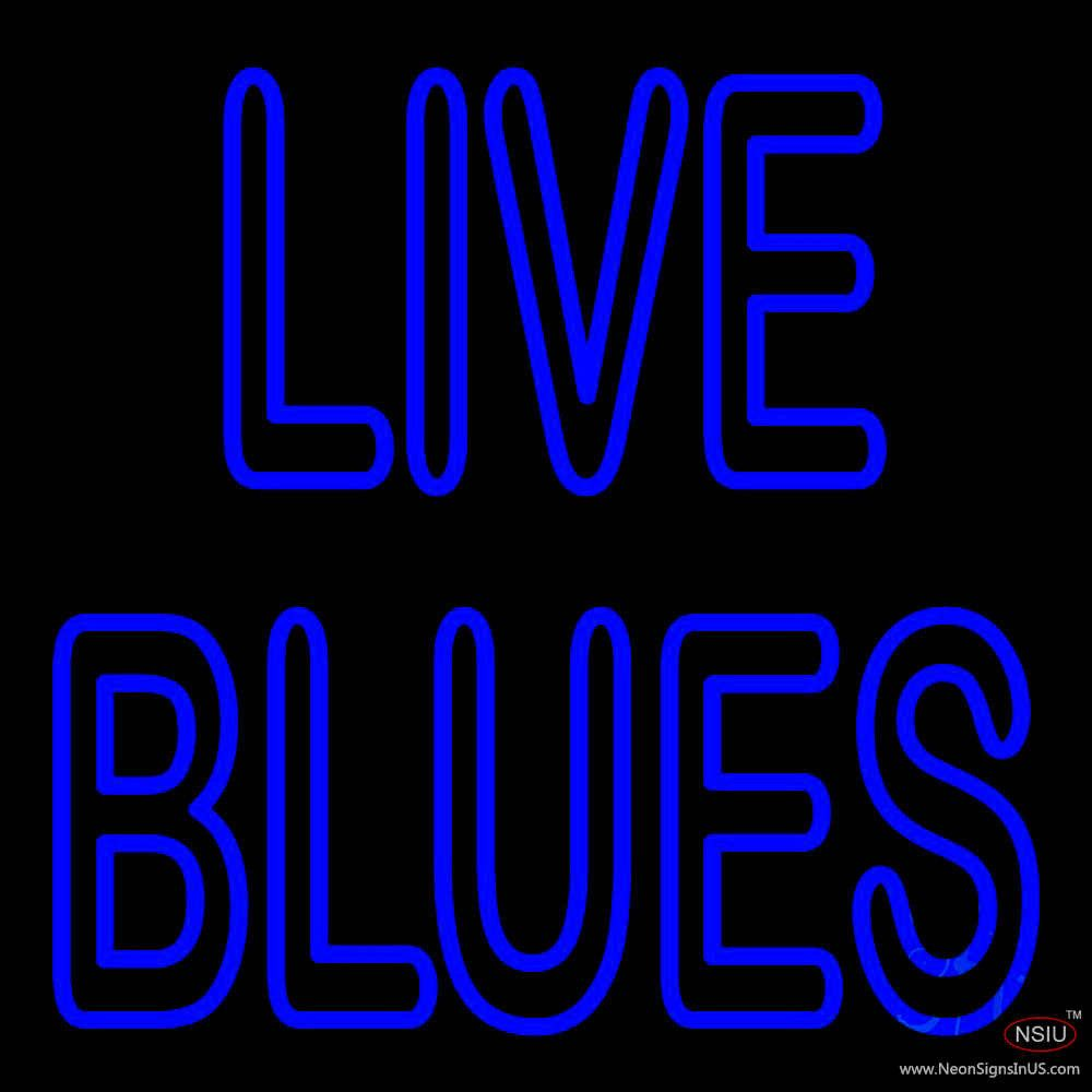 Blue Live Blues Real Neon Glass Tube Neon Sign,Affordable