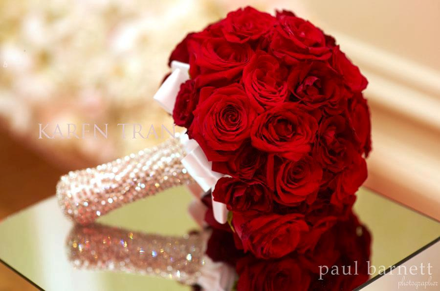 Solid Red roses with sparkles | Wedding Bouquets & Bouts ...
