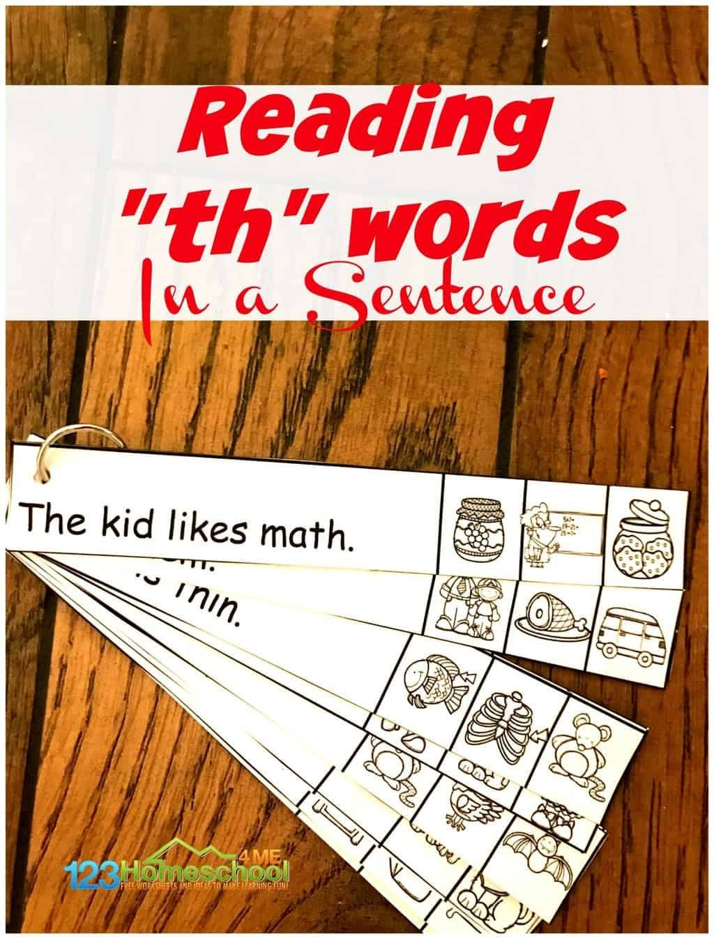 Th Worksheets For Kindergarten Free Th Worksheets In