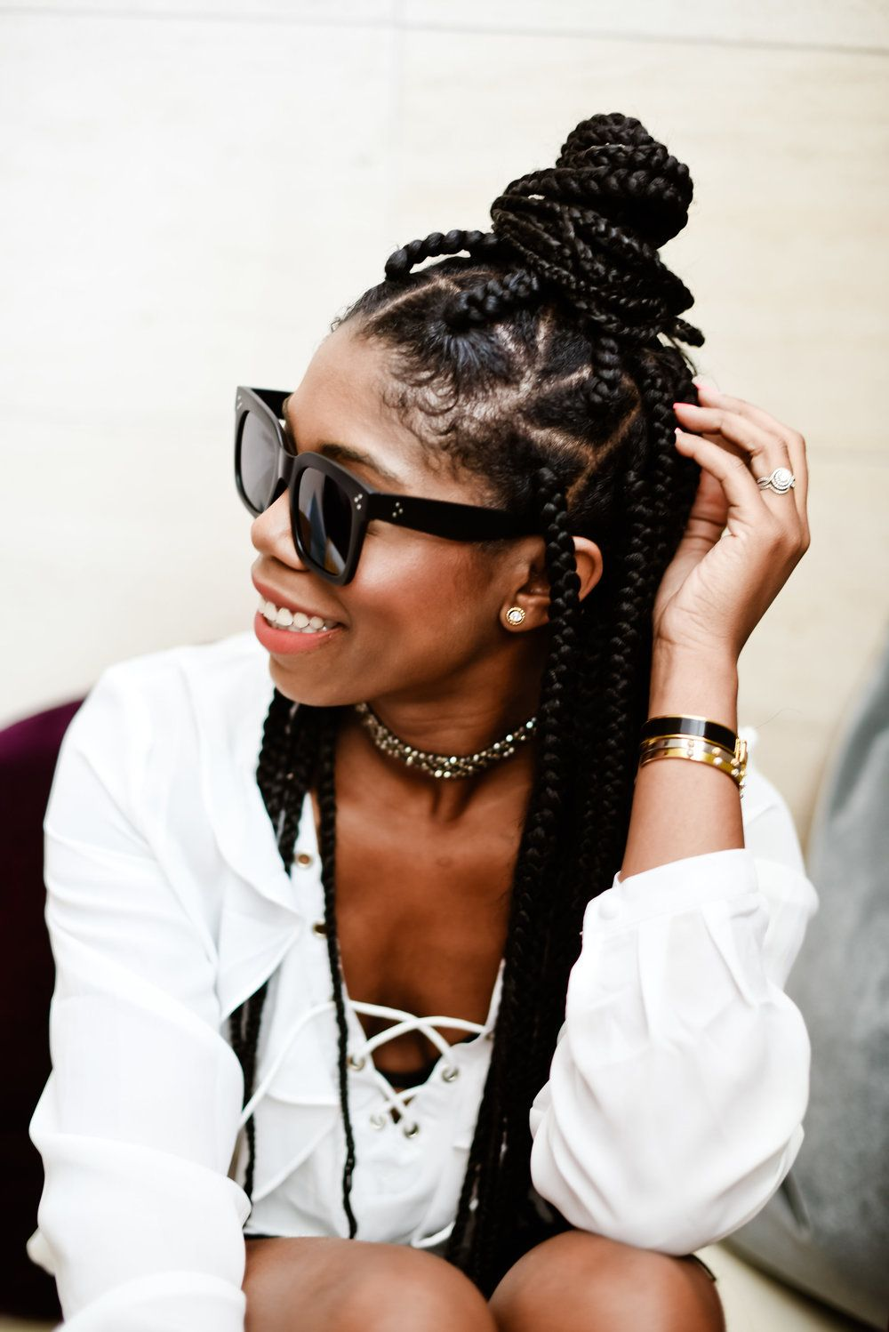 Protective Styling For The Beach Hair Styles African Hairstyles African Braids Hairstyles