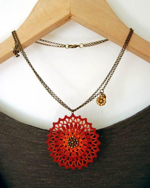 este es precioso Ana | collar tejidos | Pinterest | Hilo, Jardín y ...