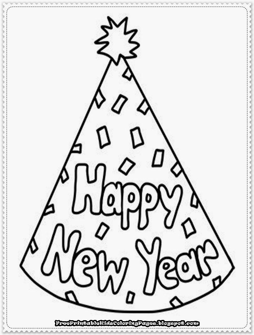 New Years Coloring Pages For Kids Coloring Holidays Seasonal