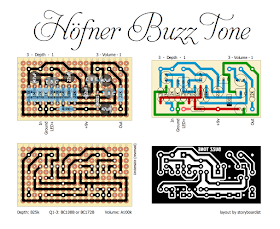 Perf And Pcb Effects Layouts Hofner Buzz Tone Layout Guitar Pedals Direct Boxes