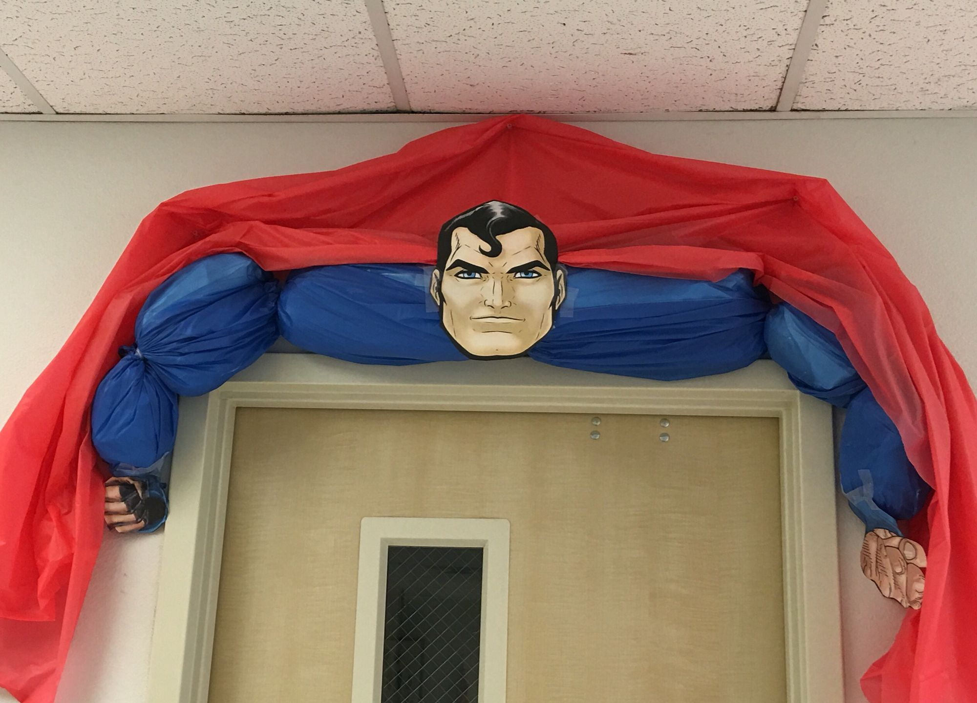 Superman Door Decor Superhero Door Decoration