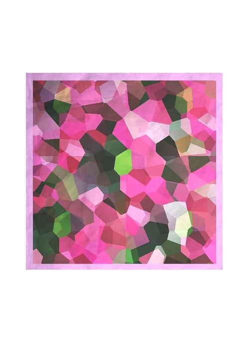 Silk Square Scarf - rose silk by VIDA VIDA EIxX2