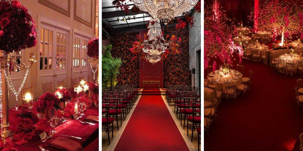 30 schöne rote Dekorationen für Ihre Hochzeitszeremonie #flowerdresses