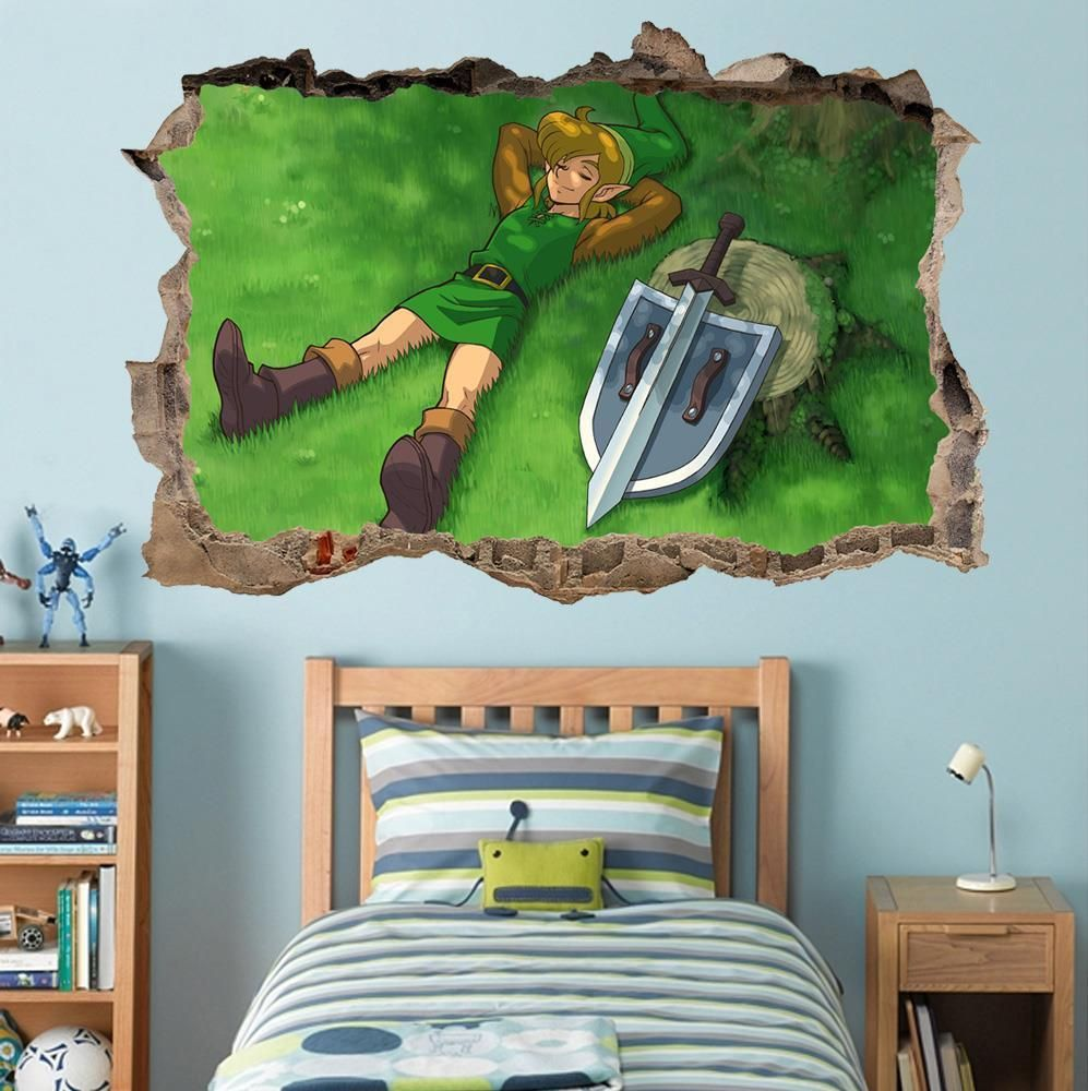 LINK Legend Of Zelda Smashed Wall Decal Graphic Wall Sticker Decor Art H382 #Unbranded : legend of zelda wall decals - www.pureclipart.com