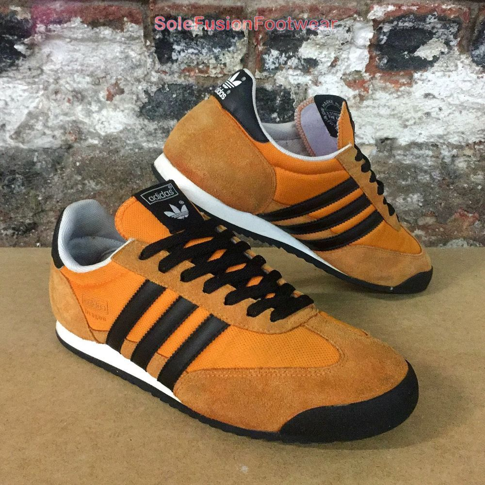 adidas Originals Mens Dragon Trainers OrangeBlack sz 9