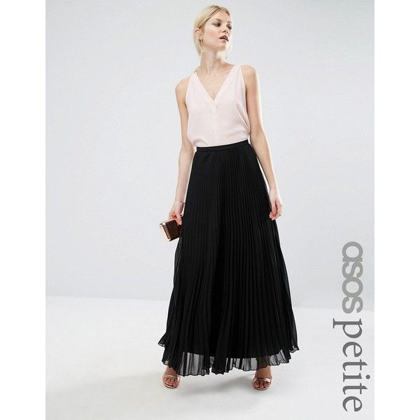 ASOS PETITE Pleated Maxi Skirt ($57) ❤ liked on Polyvore ...