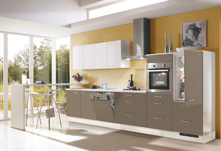 Küche in braun küchenzeile singleküche www dyk360 kuechen de