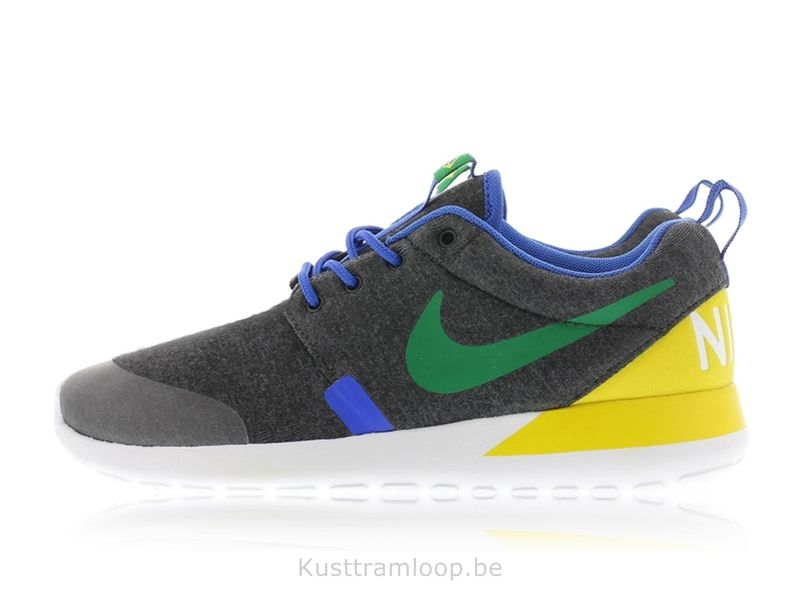 hot sale online 8de73 4380e Nike Roshe Run Quickstrike GS Noir Heather   Green Pine-Vrai YellowBrazil  Nike Huarache Free
