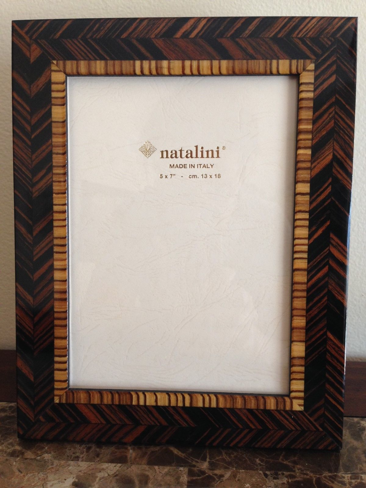 Natalini Hand Made in Italy Wood Marquetry Photo Picture Frame New