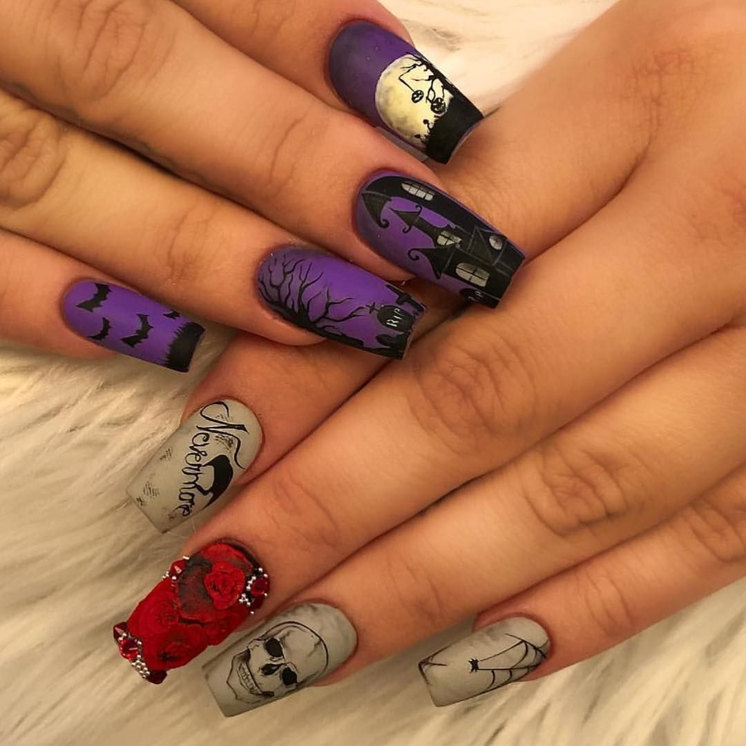 The Best Halloween Nail Designs In 2018 Stylish Belles Halloween Nail Designs Nail Art Designs Halloween Nail Art